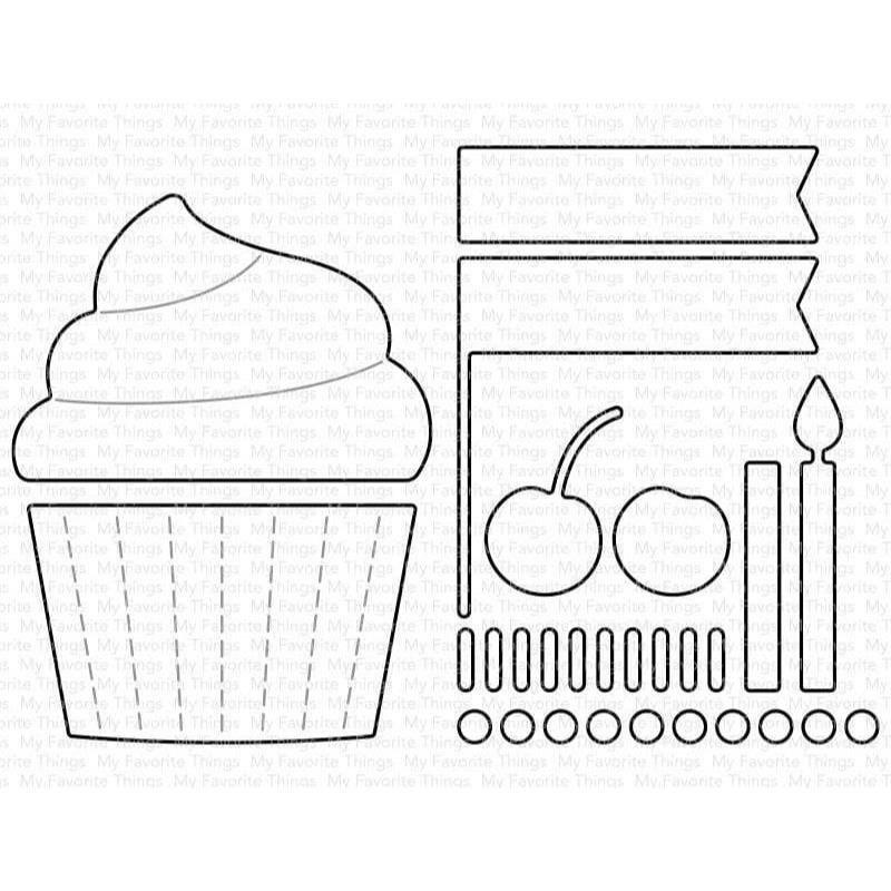 Cupcake and Sprinkles Die
