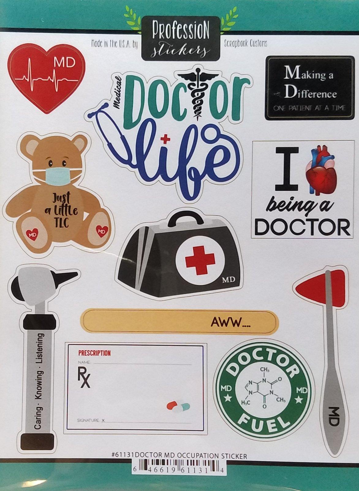 Doctor MD Sticker