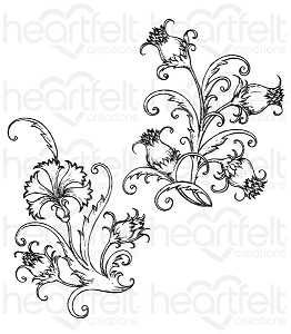 Fanciful Carnation Stamp