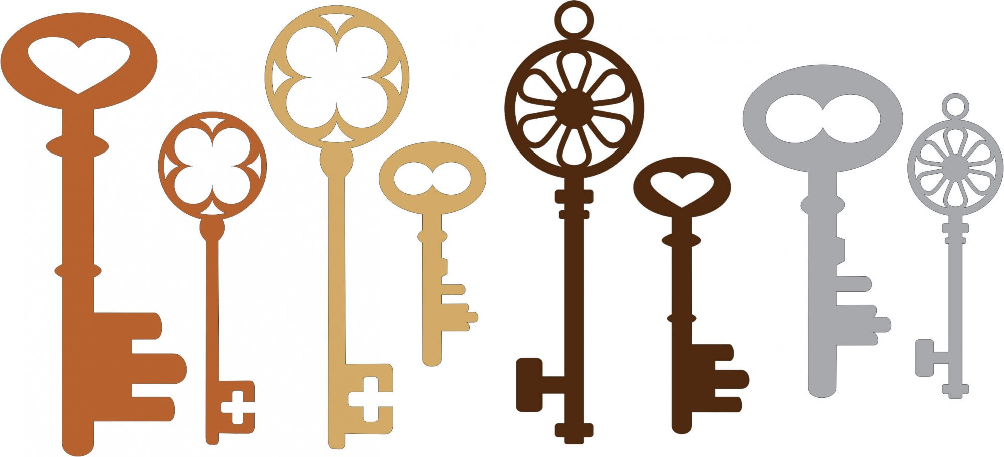Keys (Set of 8)