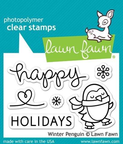 Winter Penguin Stamp