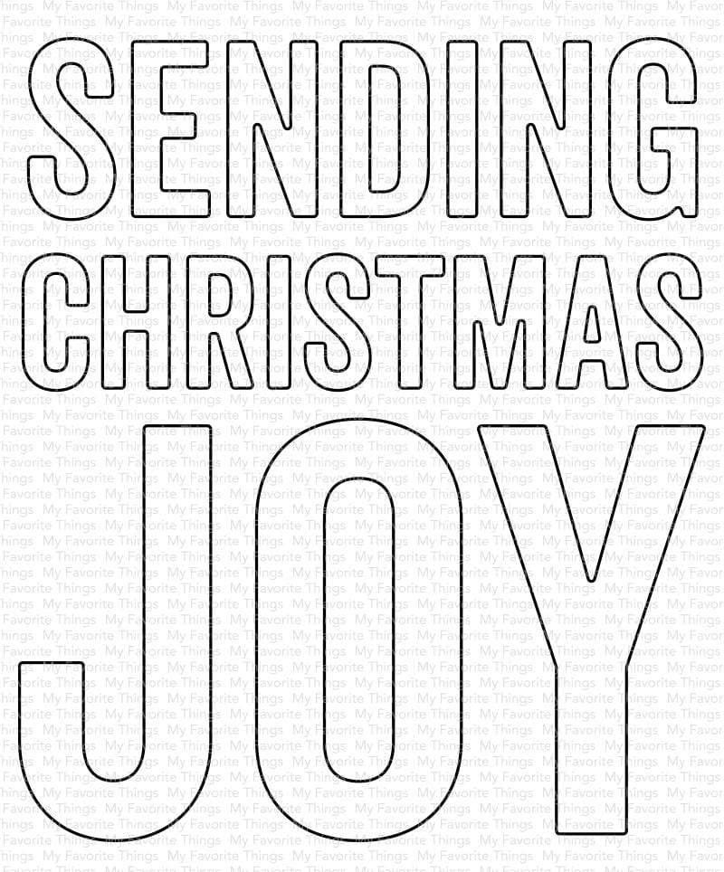 Sending Christmas Joy Die