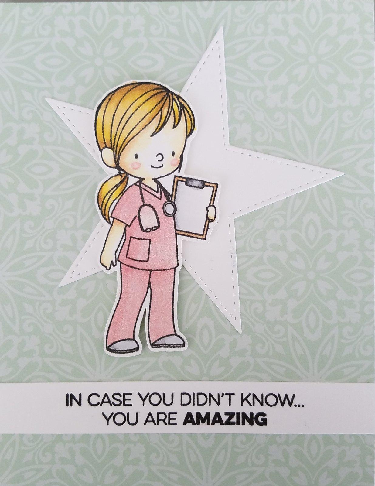 Individual Card Kit - Pink Scrubs - Myrna