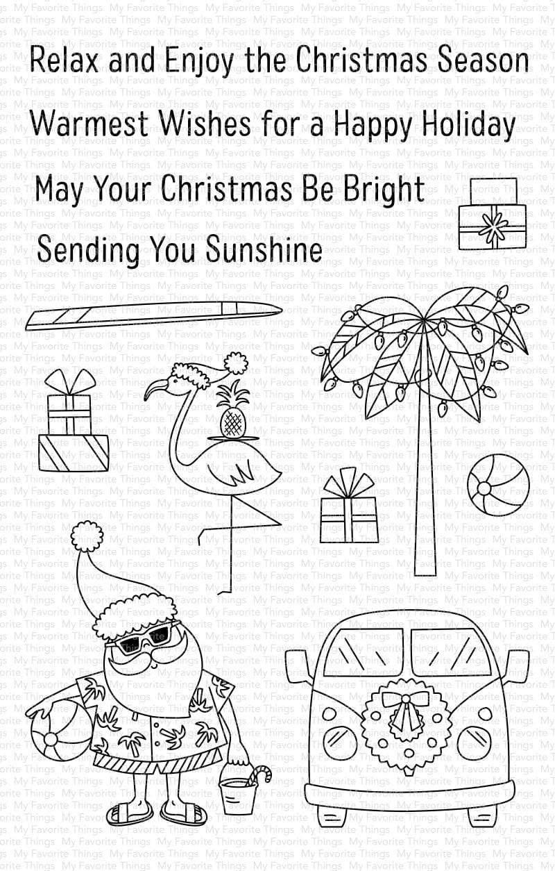 Sun Lovin' Santa Stamp