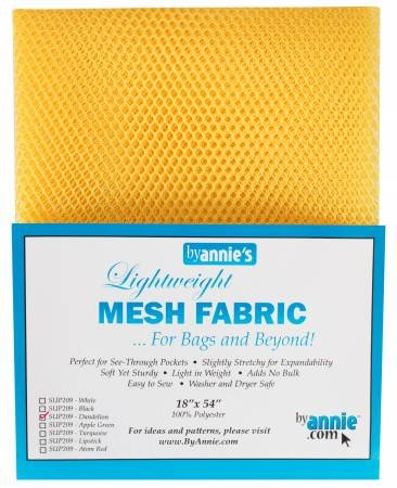 MESH FABRIC-LIGHTWEIGHT-18x54-DANDELION