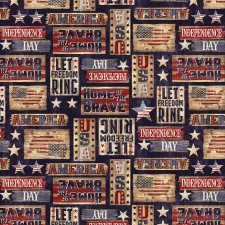 USA STARS & STRIPES-RUSTIC SIGNS-NAVY