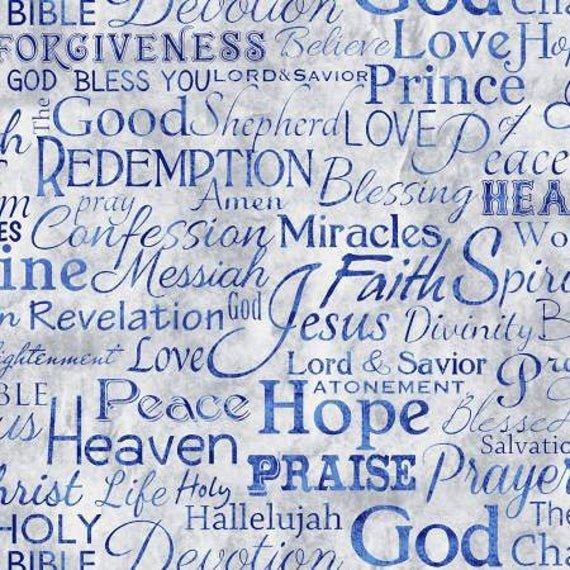 SERENITY-FAITH WORDS-BLU
