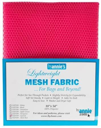 MESH FABRIC-LIGHTWEIGHT-18x54-LIPSTICK