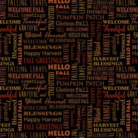 RUSTIC FALL-HELLO FALL WORDS-BLK