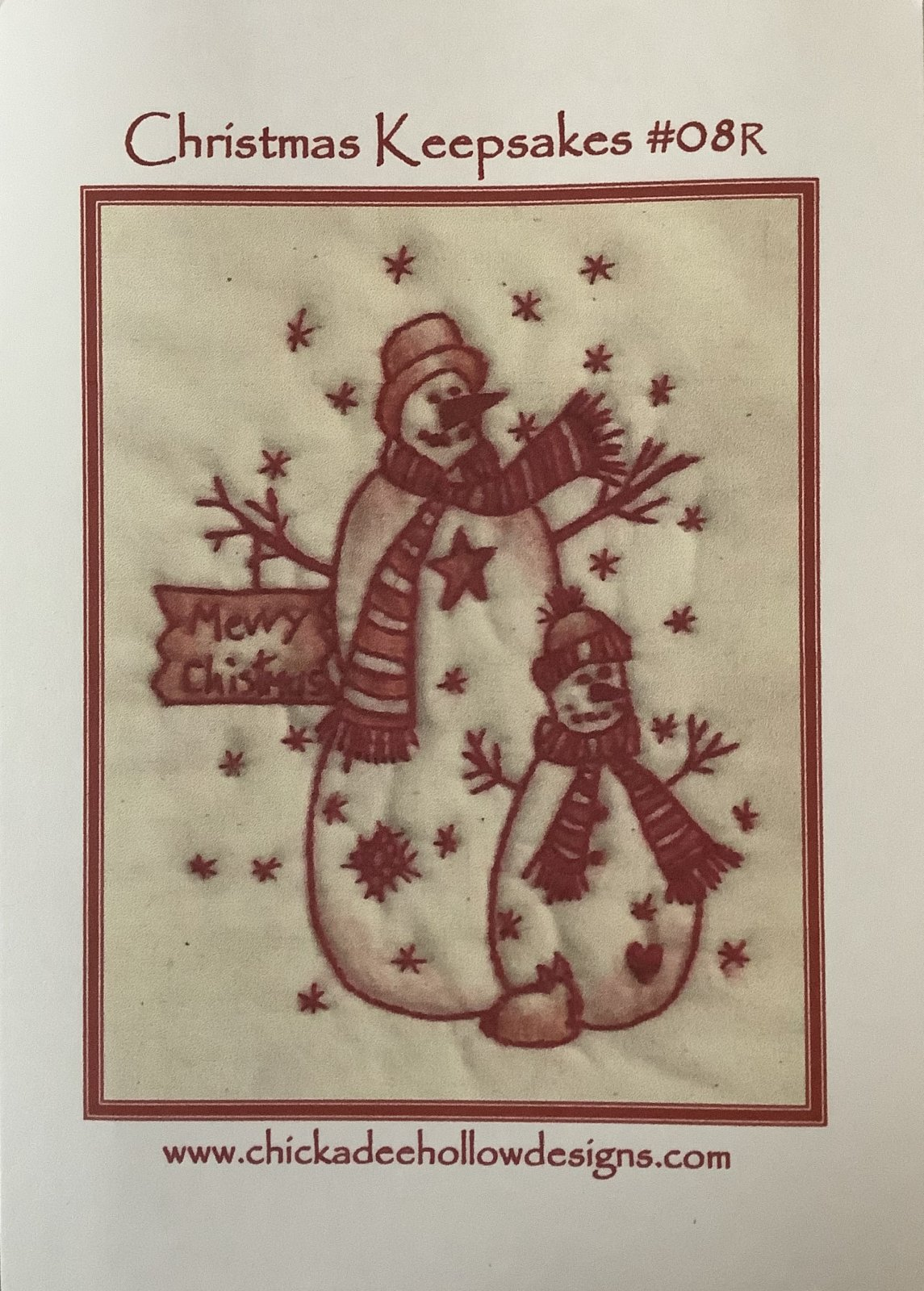 CHRISTMAS KEEPSAKES SNOWMAN-RED