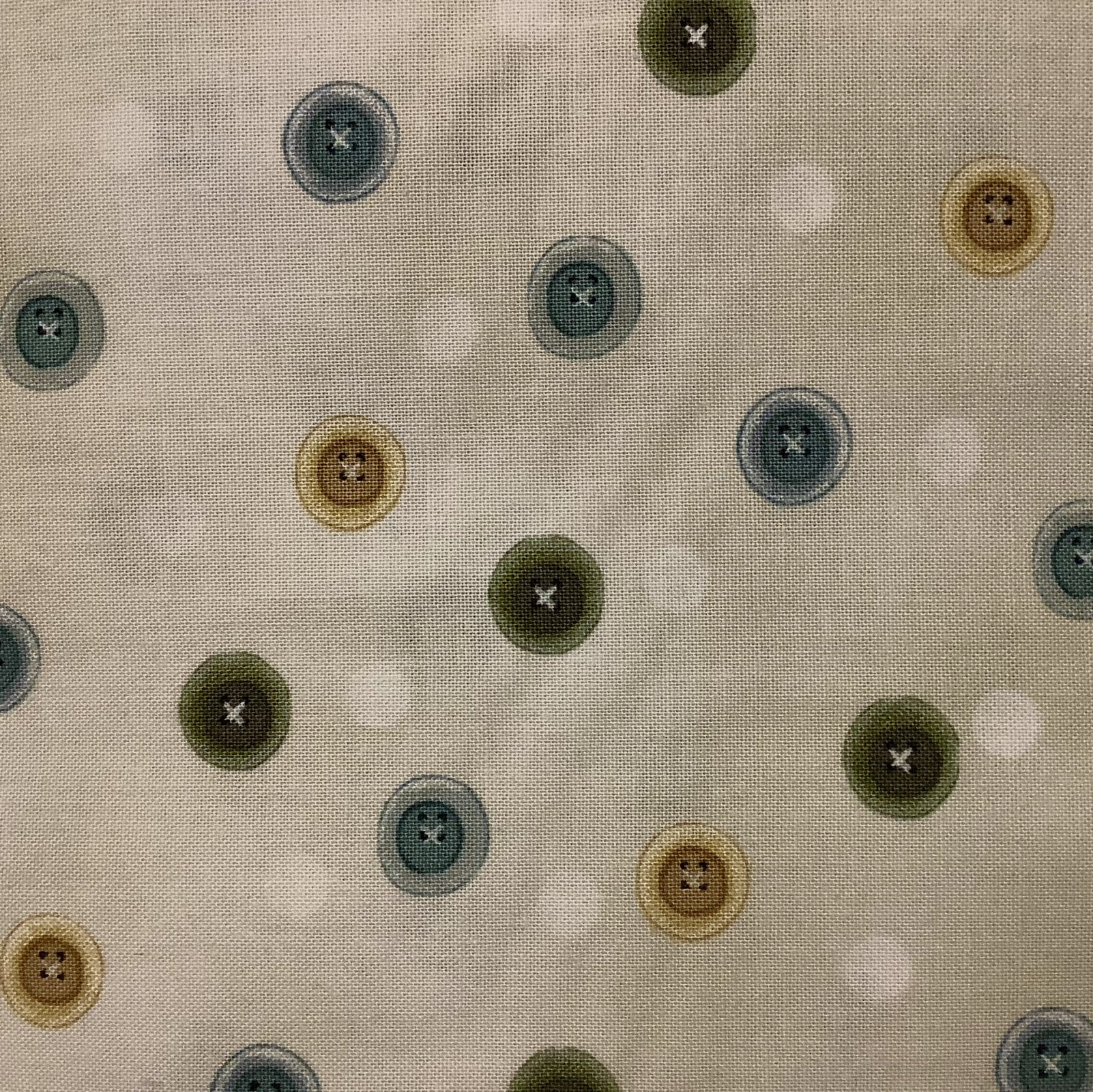 MY SEWING ROOM-BUTTONS-ECRU/GRAY