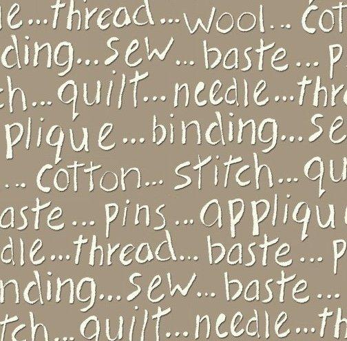 MY SEWING ROOM-SEWING WORDS-TAN