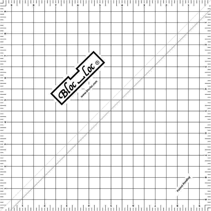 BLOC LOC-HALF SQUARE TRIANGLE RULER-9.5IN
