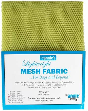 MESH FABRIC-LIGHTWEIGHT-18x54-APPLE GREEN