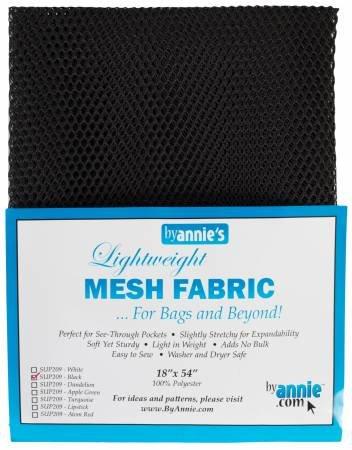 MESH FABRIC-LIGHTWEIGHT-18x54-BLK