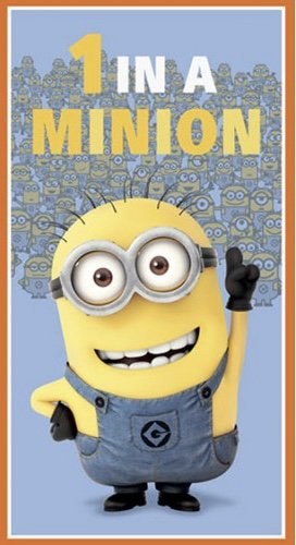 1 IN A MINION PANEL-24-BLUE