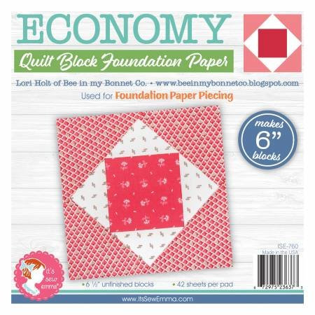 ECONOMY QUILT BLOCK 6IN FOUNDATION PAPERS