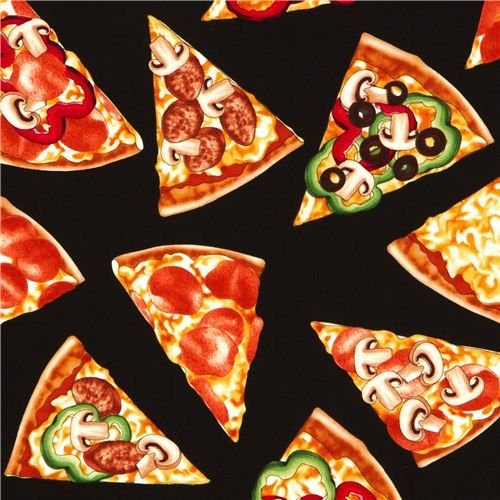 MUNCHIES-PIZZA SLICES-BLK