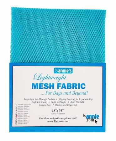 MESH FABRIC-LIGHTWEIGHT-18x54-PARROT BLUE