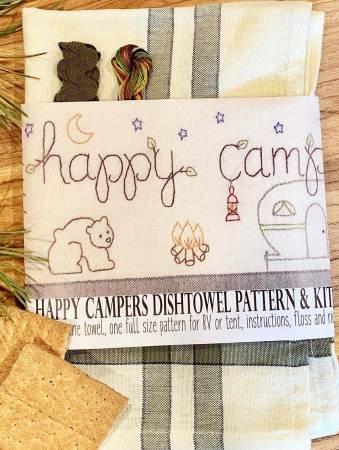 HAPPY CAMPERS DISHTOWEL KIT