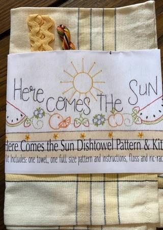 HERE COMES THE SUN DISHTOWEL KIT