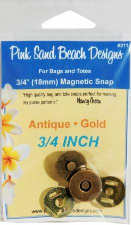 MAGNETIC SNAP-3/4-ANT GOLD