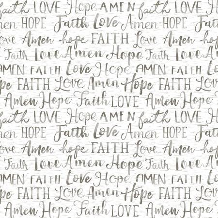 OH COME LET US ADORE HIM-FAITH WORDS-WHITE