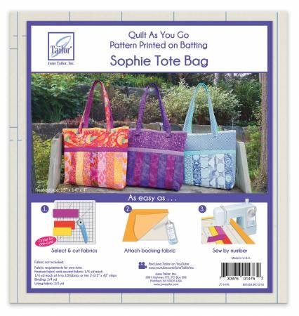 SOPHIE TOTE BAG-QUILT AS YOU GO