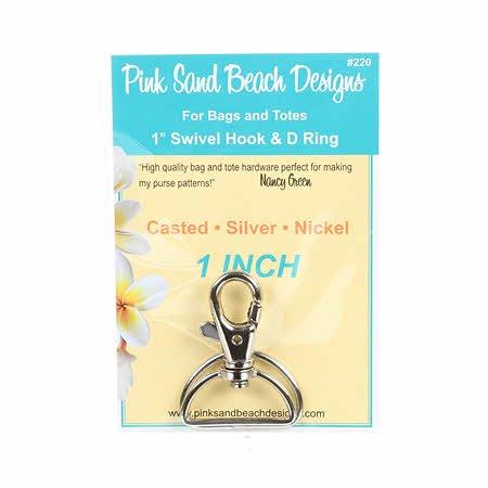 1IN SWIVEL HOOK & D RING-SILVER NICKEL