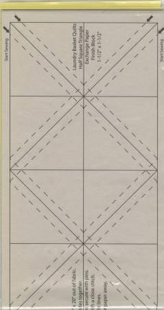 HALF SQUARE TRIANGLE PAPER  - 1 1/2