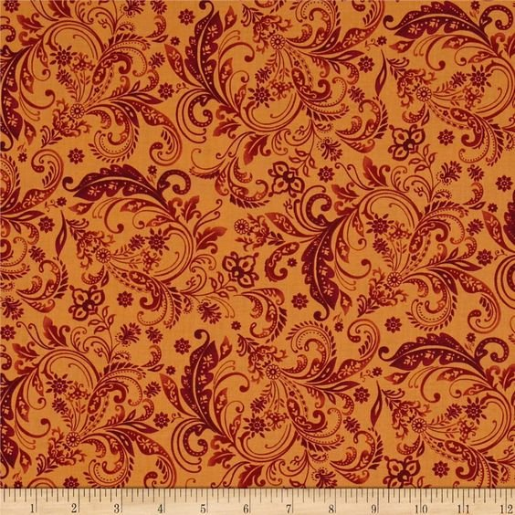 WELCOME HARVEST-DAMASK-RUST