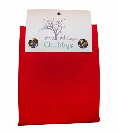 WOOL CHUBBY-16X16-CHRISTMAS RED-IVORY