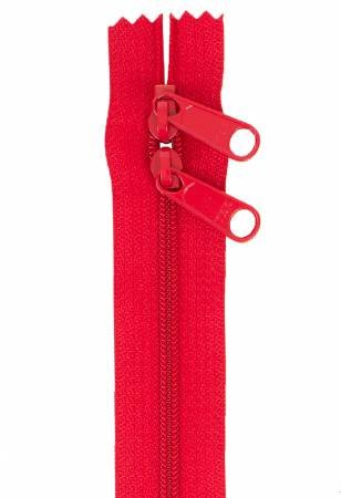 ZIPPER DBL SLIDE-40 IN-HOT RED