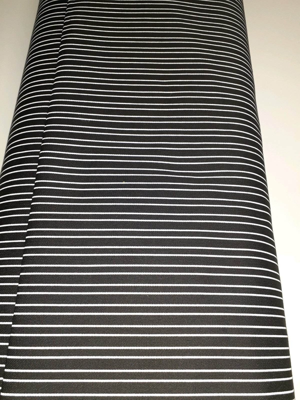 Black/White Stripe Stretch Denim