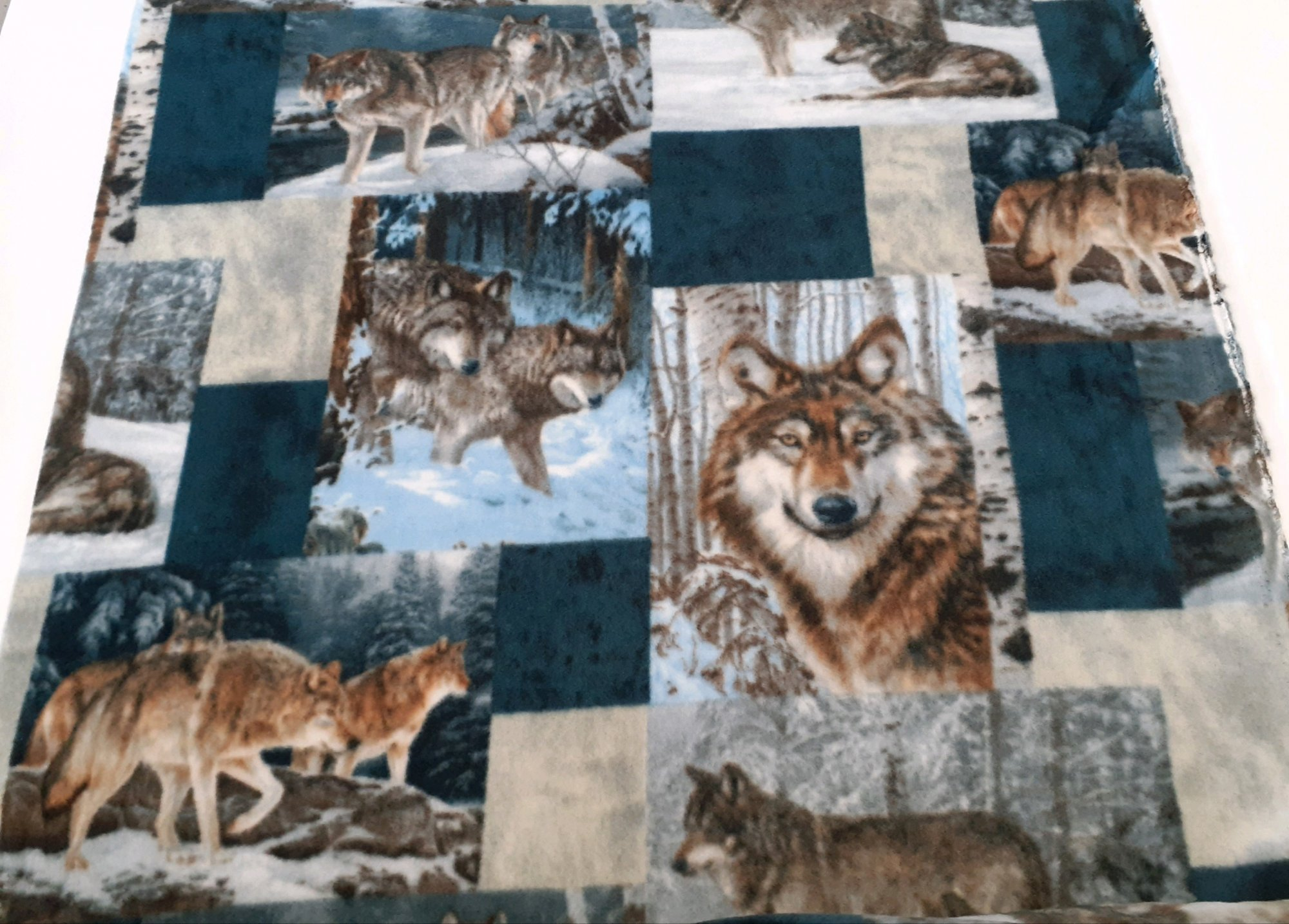 Wolves Patchwork Fleece