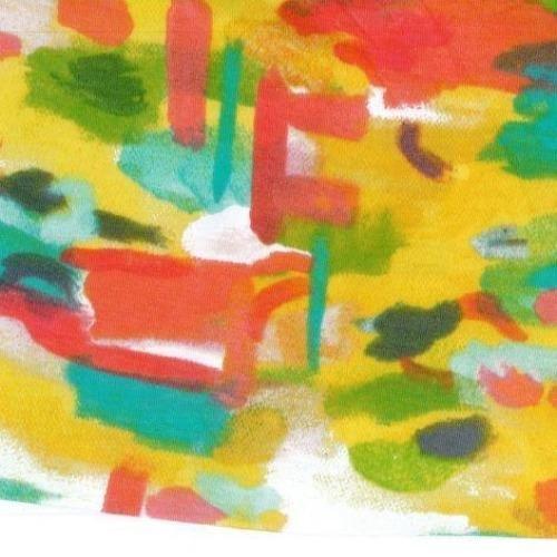 Sunshine Serenade Cotton Spandex Jersey Print 60