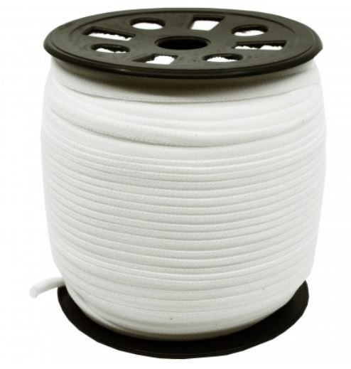 Banded Stretch Elastic - 1/6 White