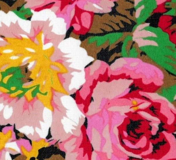 Black/Pink/Green Chiffion Print Woven Fabric - 60 wide