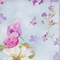 Breeze Blue Ascott Floral Print Cotton