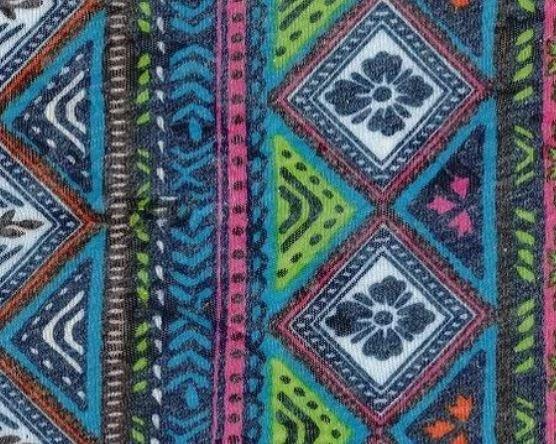 Apple/Orange Amelia #S Burnout Jersey Print Knit