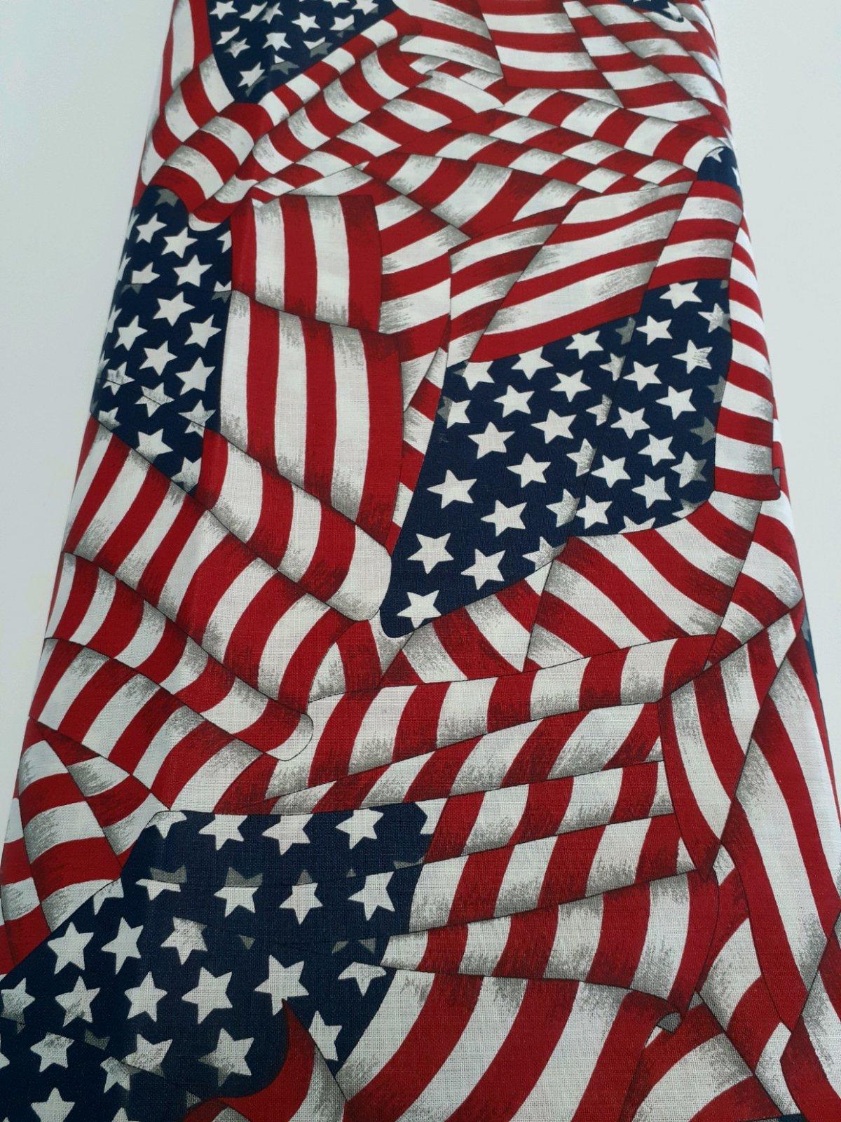 Stars & Stripes - Allover Flag 100% Cotton