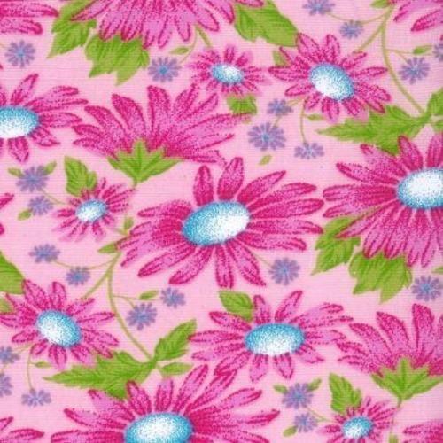Pink MIla #S113 Easycare Poly Cotton Print