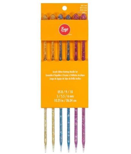 Knitting Needle Assortment Sz 8 - 10