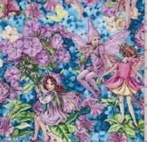 Teal Fairy Whispers Print Cotton