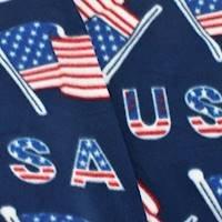 Navy/Red/White American Flag Print Fleece