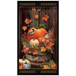 Harvest Elegance panel on black