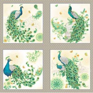 Imperial Garden - peacock panel