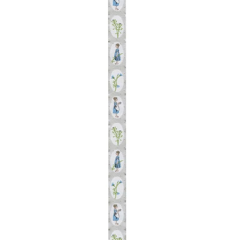 Acufactum Meadow Girls in Ovals Woven Ribbon