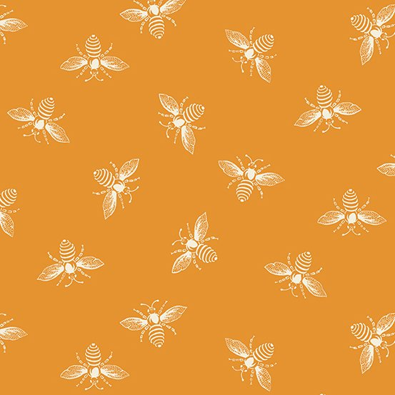Orange Peel Bees from the French Bee Collection by Renee Nanneman for Andover Fabrics