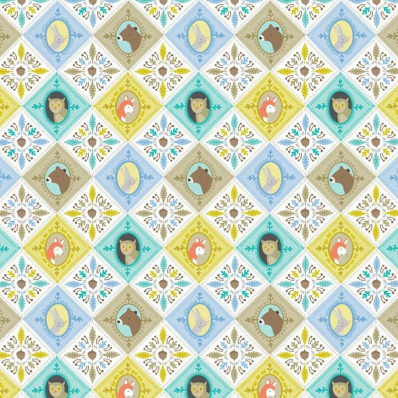 Blue Born Wild Patchwork by Ana Davis for Blend Fabrics